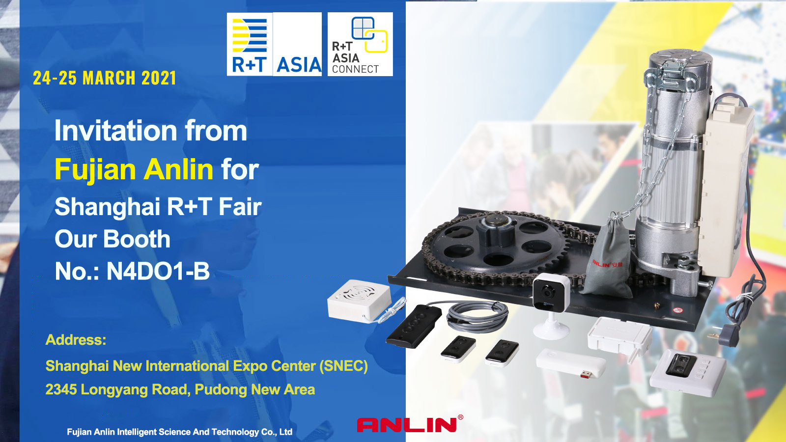FUJIAN ANLIN Join the Pavilionat R + T Asia